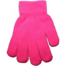 Hot Pink Neon Bright Florescent Magic Gloves