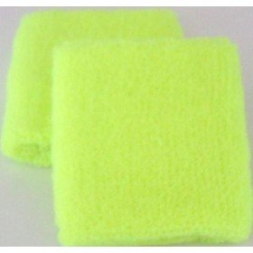 Neon Yellow Sweatband / Armband For Rave Party Festival