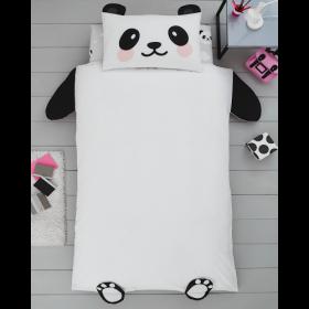 Single Size 3D Panda Bear Reversible Design Duvet Cover & Matching Pillowcase