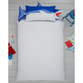 Single Size 3D Shark Fin Reversible Design Duvet Cover & Matching Pillowcase