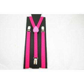Unisex Plain Neon Pink 15mm  Fashion Braces