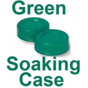 Jade Green Contact Lens Soaking Case -Translucent Style