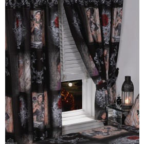 "66""x72"" Alchemy Gothic Story Of The Rose Curtains & Tie-Backs"