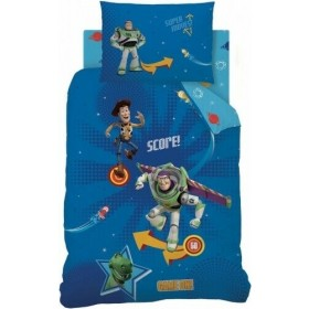 Single Size Toy Story Reversible Pinball Design Blue Duvet Cover & Matching Pillowcase