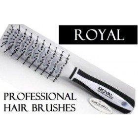 White Royal Cosmetic Connections Tunnel Vent Hair Brush