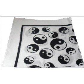 Black and White (White Base) Yin Yang Bandana 100% Cotton