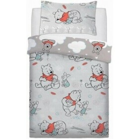 Single Size Winnie The Pooh & Piglet Design Duvet Cover & Matching Pillowcase